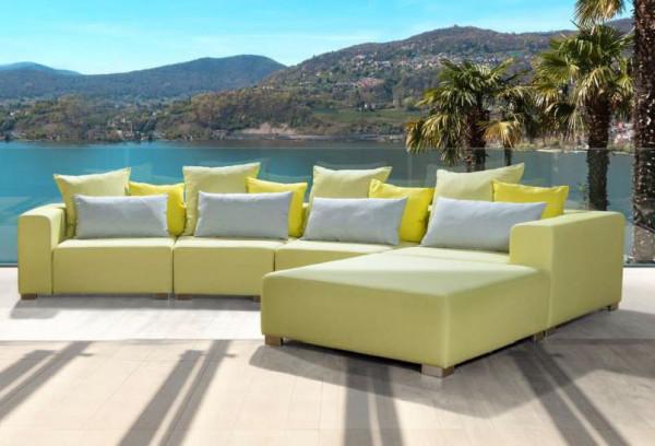 Primavera Cubick Sofa mit Longchair (C + Trapez + Trapez + C + Hocker)