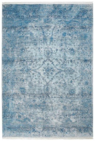 Obsession Laos Vintage Fransenteppich, 454 Blue