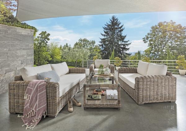 Natur Rattan Garten Sofa