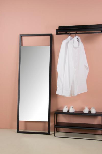 Standspiegel Sasha L 160x56 Stahl schwarz