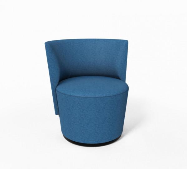 Lounge Drehsessel Mobitec Bolero, Bezug Mango Blue