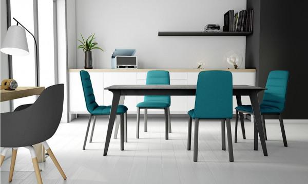 Tisch Infinity Keramik Iron Moss + Stahl Anthrazit