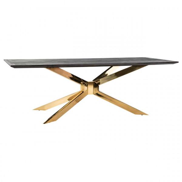 Design Esstisch Gold Schwarz Blackbone